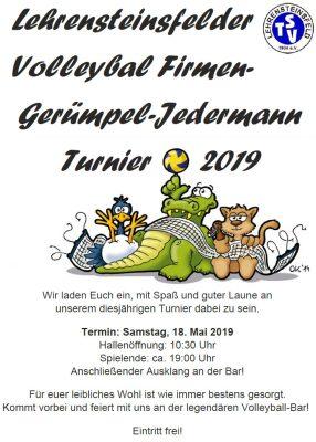 Volleyball Firmen-Gerümpel-Jedermann-Turnier 2019